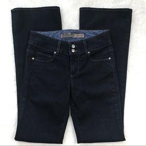 Paige Dark Wash Denim Stretch Bootcut Jeans